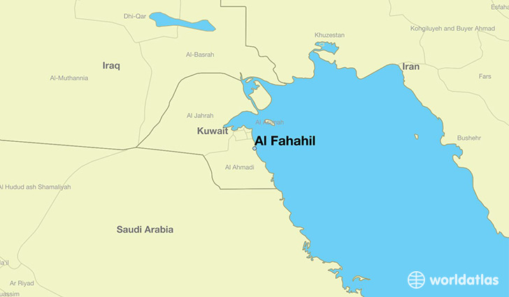 map showing the location of Al Fahahil