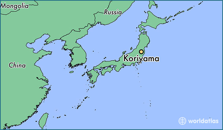 map showing the location of Koriyama