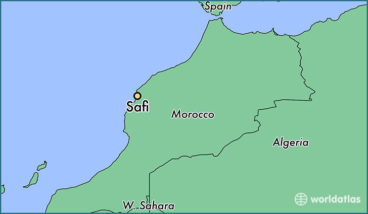 map showing the location of Safi
