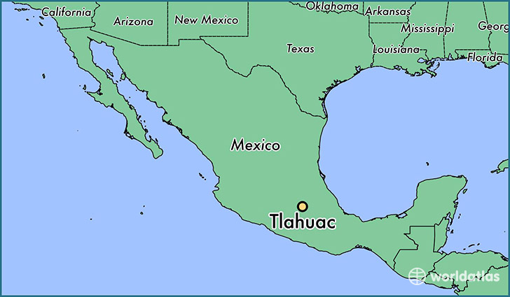 map showing the location of Tlahuac