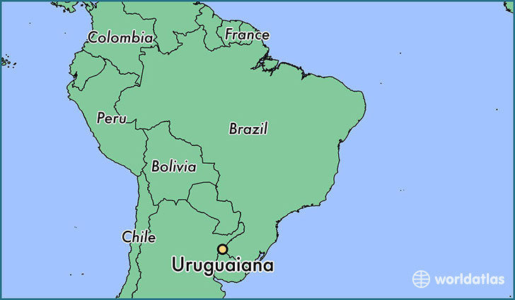 map showing the location of Uruguaiana