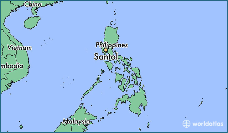 map showing the location of Santol