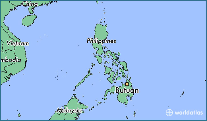 map showing the location of Butuan