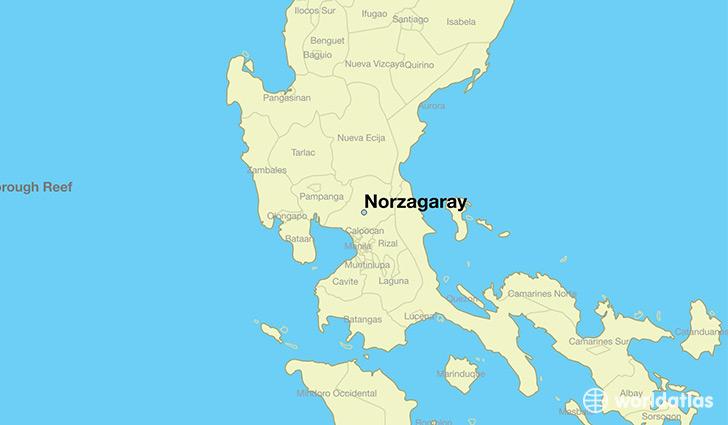 map showing the location of Norzagaray