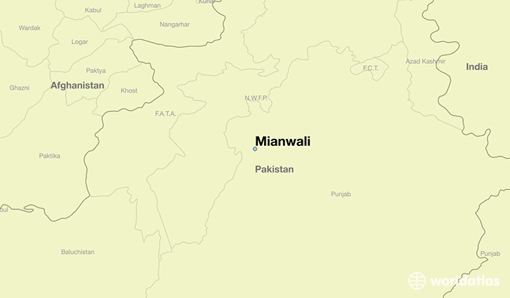 map showing the location of Mianwali