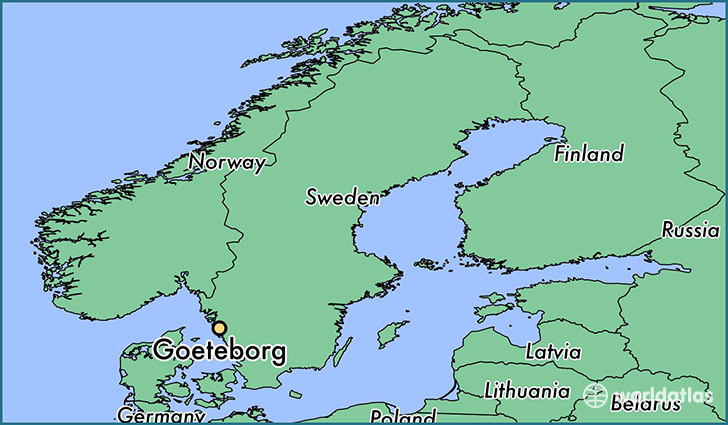 map showing the location of Goeteborg