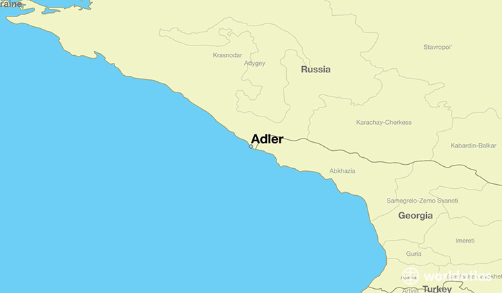 map showing the location of Adler