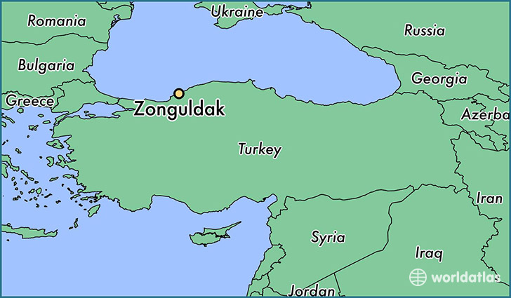 map showing the location of Zonguldak