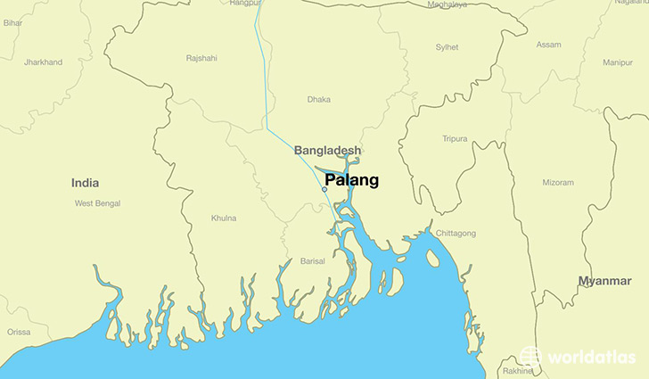 map showing the location of Palang