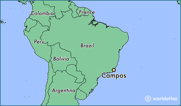 Where is campos brazil campos rio de janeiro map worldatlas map showing the location of campos gumiabroncs Choice Image