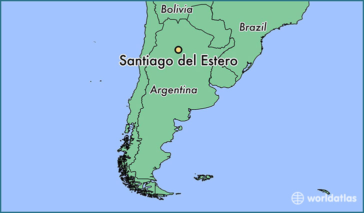 map showing the location of Santiago del Estero