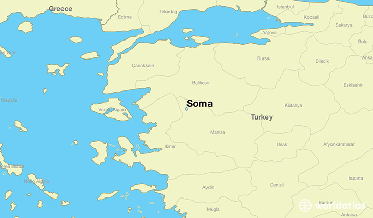 map showing the location of Soma