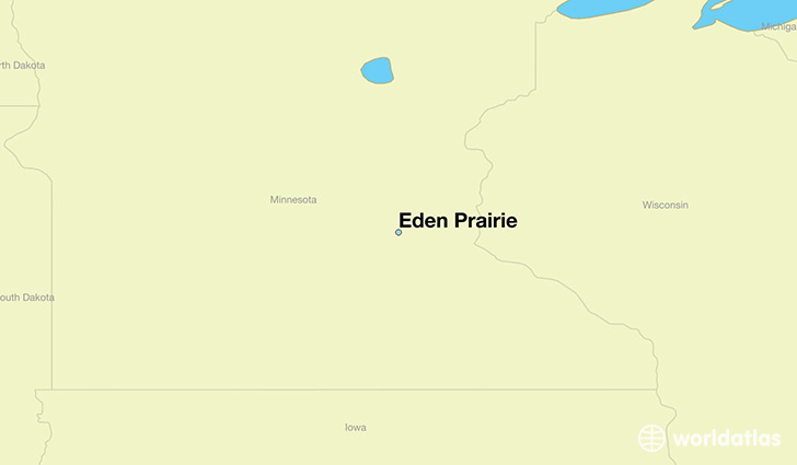 map showing the location of Eden Prairie
