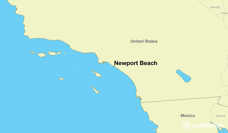 map showing the location of Newport Beach
