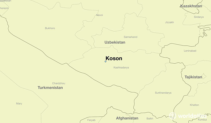 map showing the location of Koson