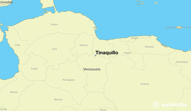 map showing the location of Tinaquillo