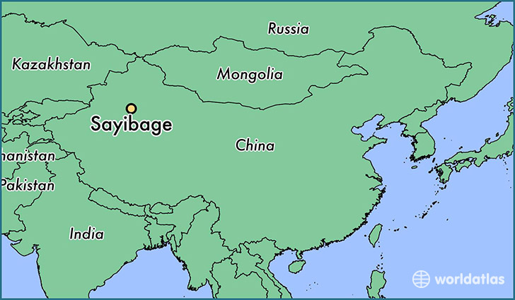 map showing the location of Sayibage
