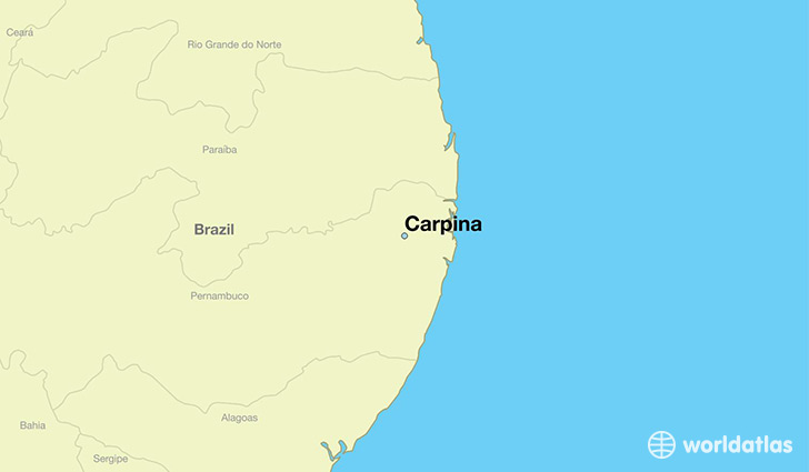 map showing the location of Carpina