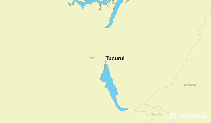 map showing the location of Tucurui