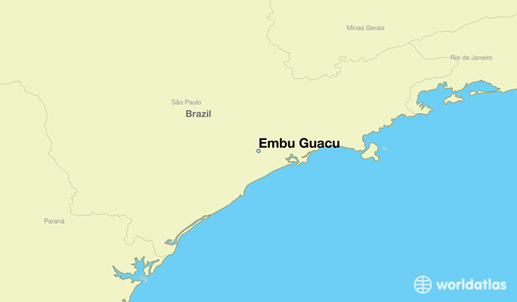 map showing the location of Embu Guacu