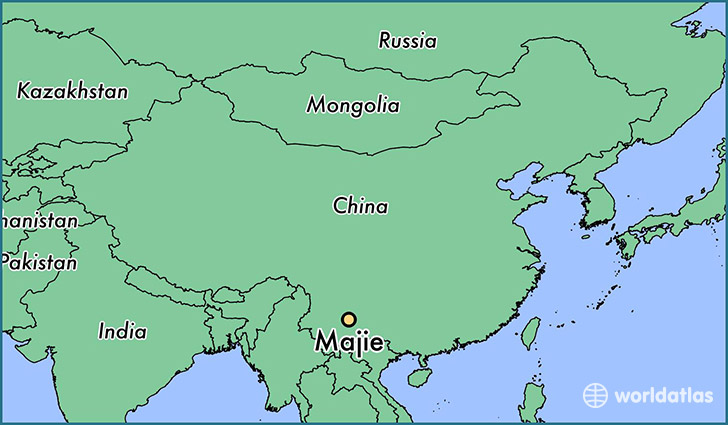 map showing the location of Majie