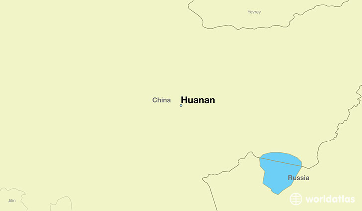 map showing the location of Huanan