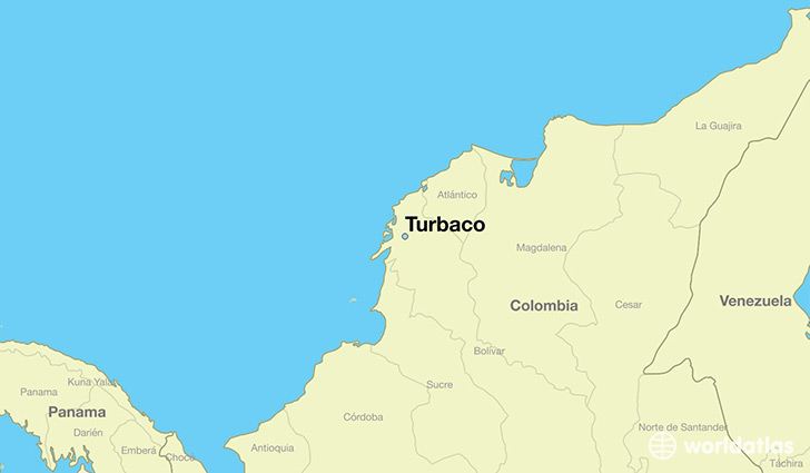 map showing the location of Turbaco