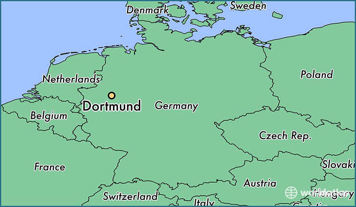 Where is Dortmund Germany Dortmund North RhineWestphalia Map
