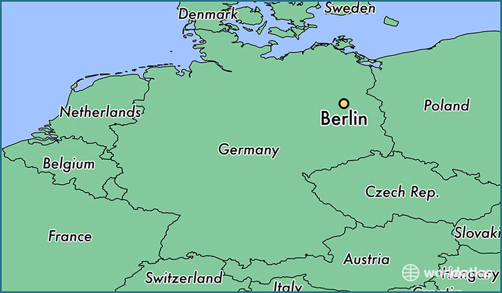 Berlin On World Map World Map 07: Berlin Germany Map