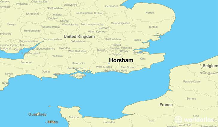 Map Of England Milton.Where Is Horsham England Horsham England Map Worldatlas Com