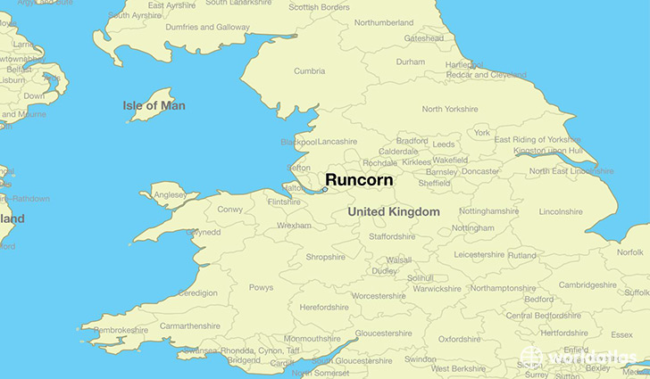 map showing the location of Runcorn