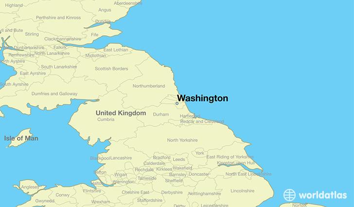 Where is Washington, England? / Washington, England Map - WorldAtlas.com