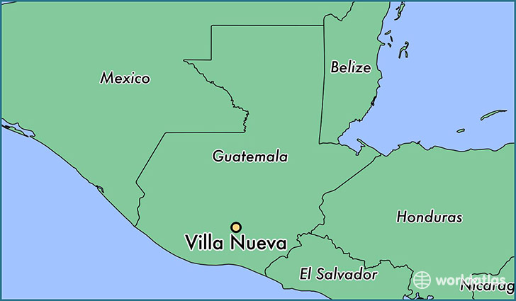 map showing the location of Villa Nueva