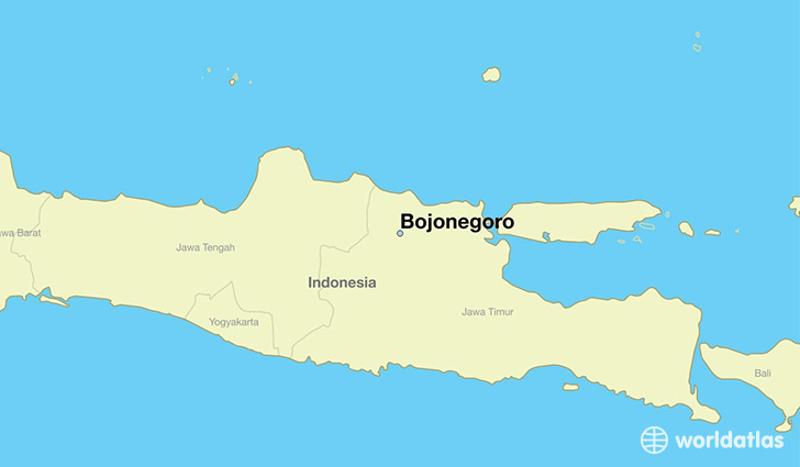 map showing the location of Bojonegoro
