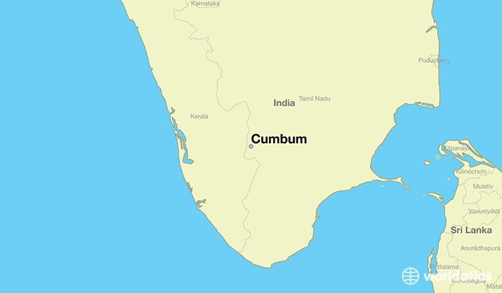 map showing the location of Cumbum