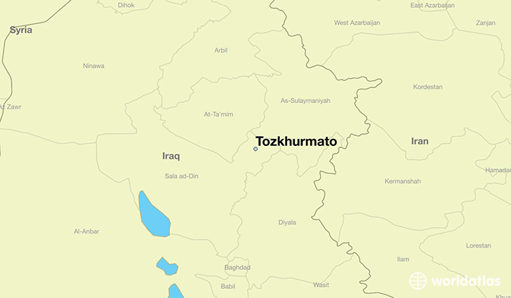 map showing the location of Tozkhurmato