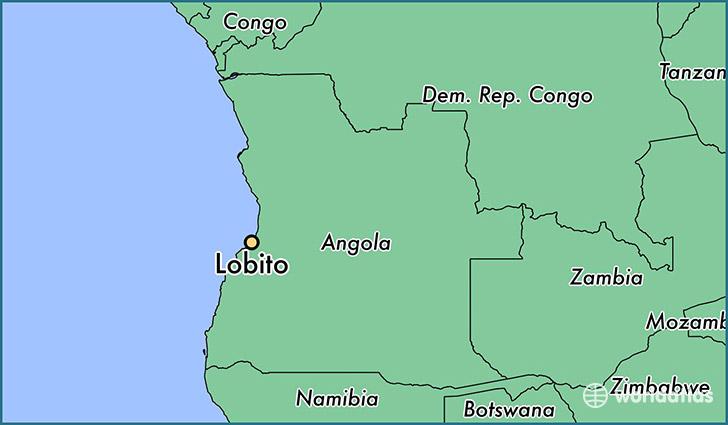 Where is Lobito Angola Lobito Benguela Map WorldAtlascom