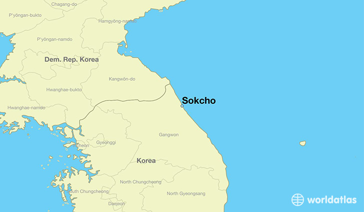 map showing the location of Sokcho