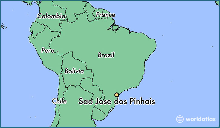map showing the location of Sao Jose dos Pinhais