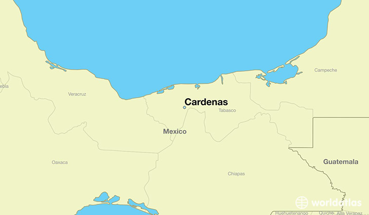 map showing the location of Cardenas