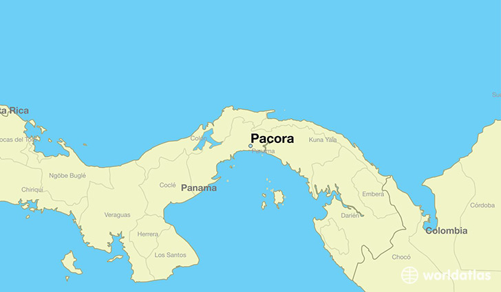 map showing the location of Pacora