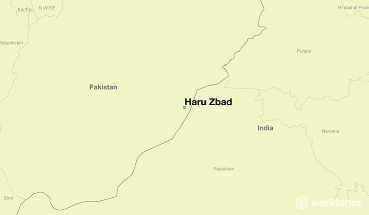 map showing the location of Haru Zbad