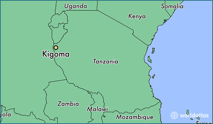 map showing the location of Kigoma