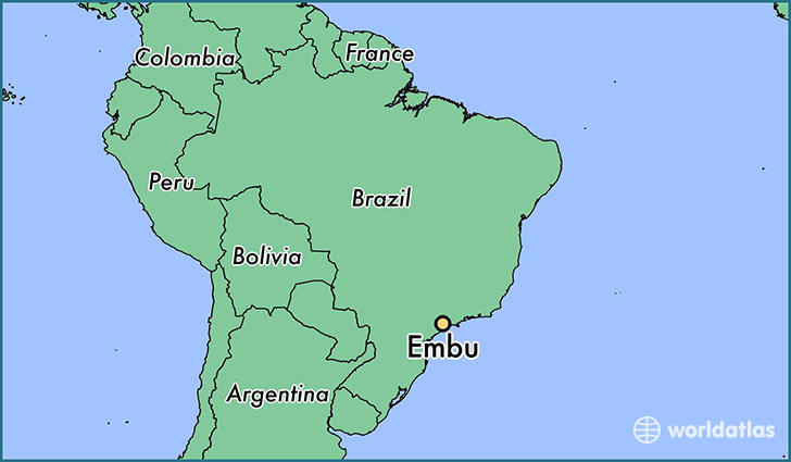 map showing the location of Embu