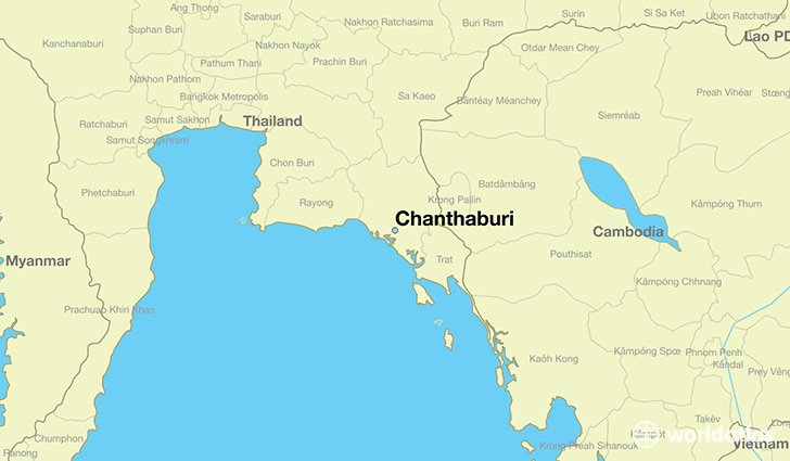 Where is Chanthaburi Thailand Chanthaburi Chanthaburi Map