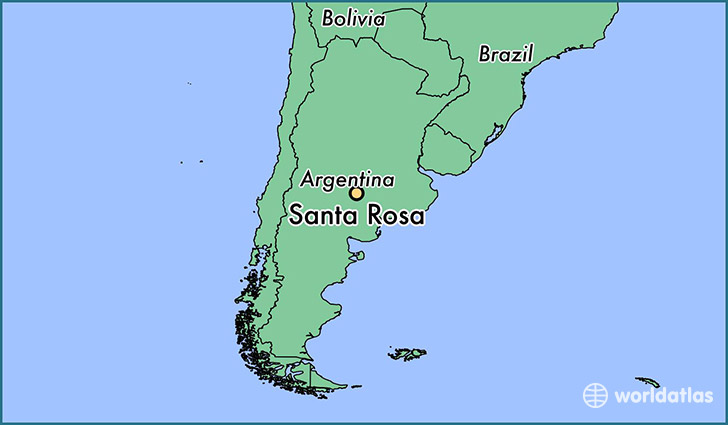 map showing the location of Santa Rosa