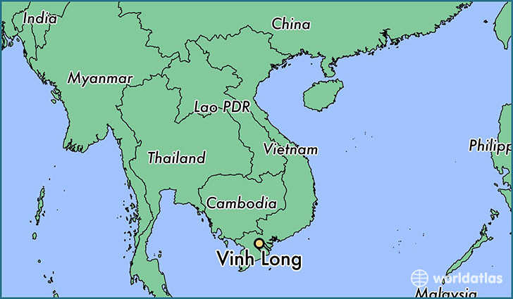map showing the location of Vinh Long