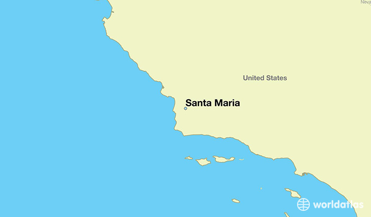 map showing the location of Santa Maria