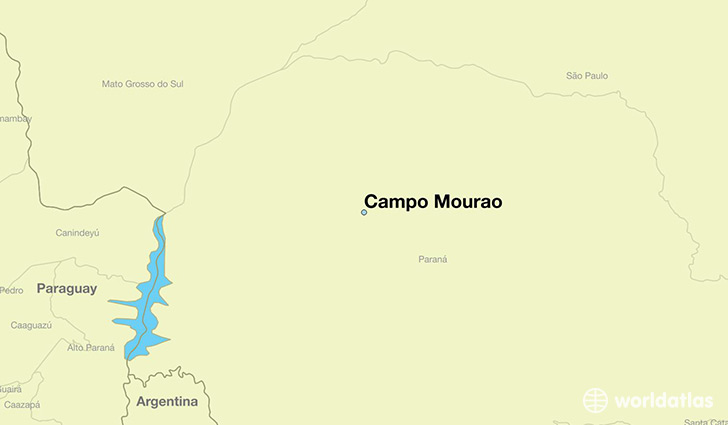 map showing the location of Campo Mourao
