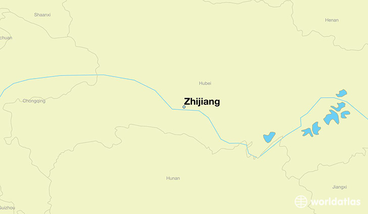 map showing the location of Zhijiang